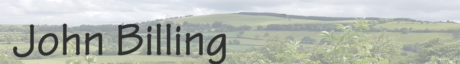 Header image for John Billing website