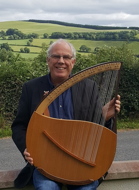 John with lyre built by Murray Wright